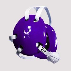 Purple and White Earshot Head Gear