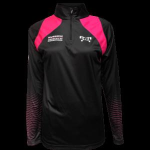 Women's AOC Pink & Black Quarter-Zip