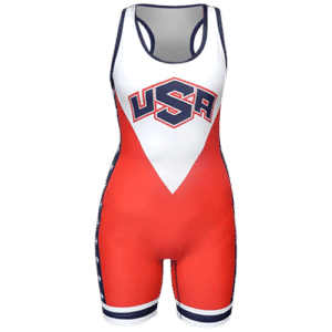 Womens USA Stars and Stripes Singlet - Red