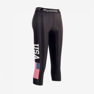 Women's USA Black Leggings