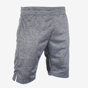 Heathered Box Stripe Shorts With White Embroidery
