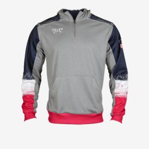 RWB quarter zip hoodie F