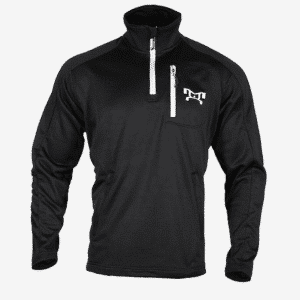 Black quarter zip fleece F