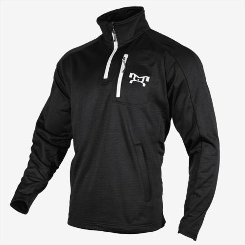 Black quarter zip fleece L