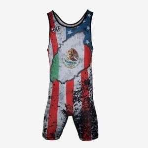 USA Mexico Distressed Flag Singlet