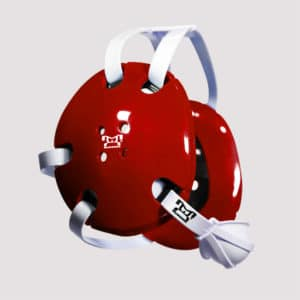 Red and White Earshot Head Gear