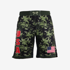 Green Camo Fight Shorts