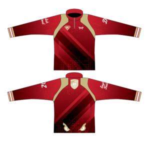 Elite Athletic Club Custom Red Quarter Zip
