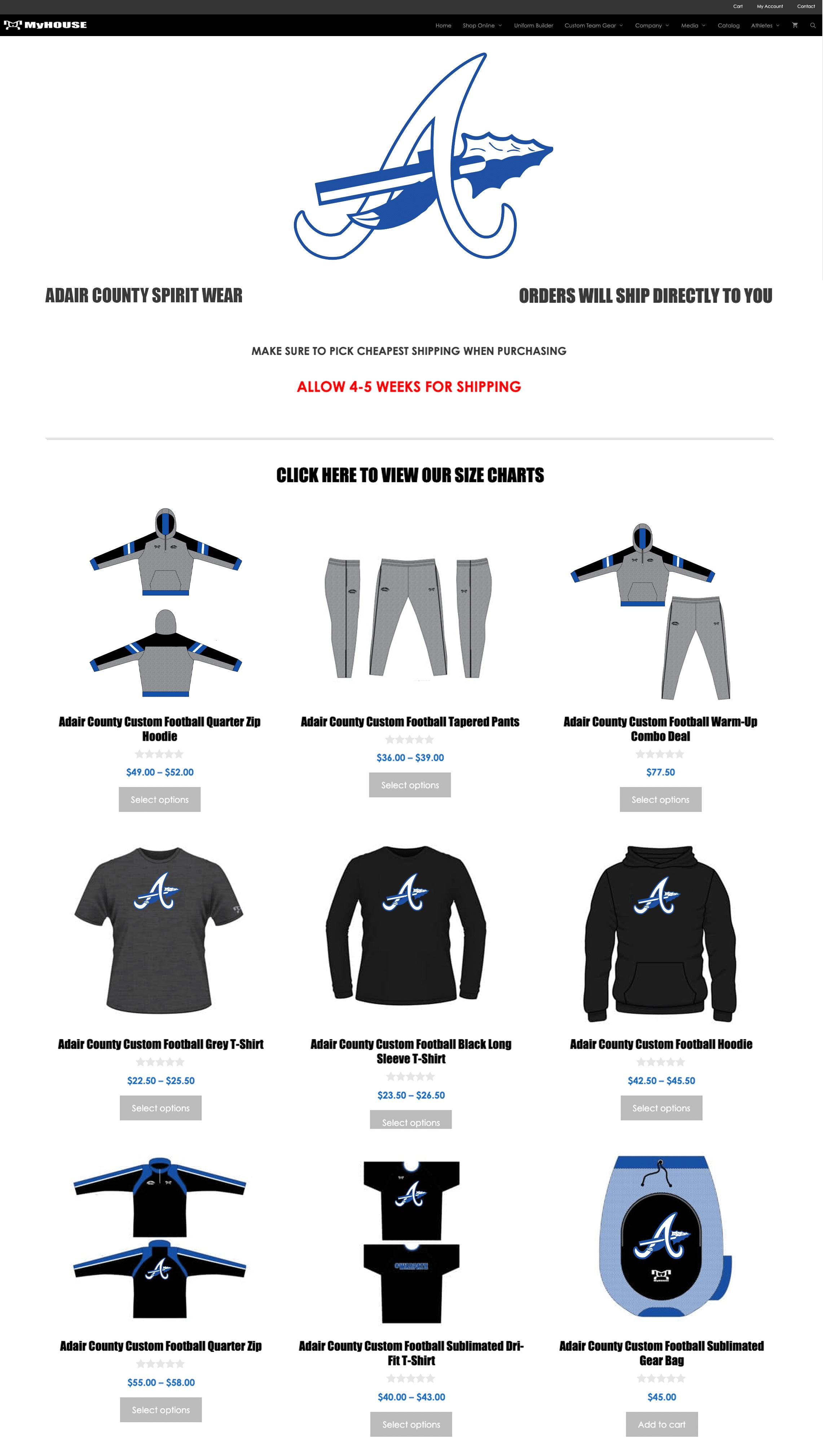 Football Team Store Sample larger