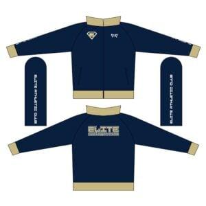 Elite Athletic Club Custom Navy Full Zip