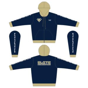 Elite Athletic Club Custom Navy Full Zip Hoodie
