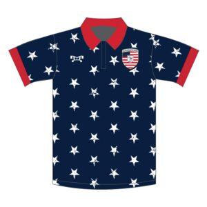 Elite Athletic Club Custom Navy Stars Polo Shirt
