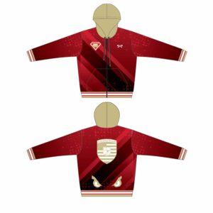 Elite Athletic Club Custom Red Full Zip Hoodie