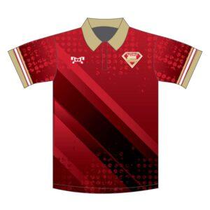 Elite Athletic Club Custom Red Polo Shirt