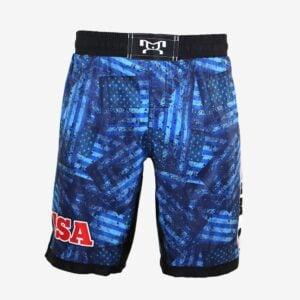 Blue Flag Camo Blue Fight Shorts