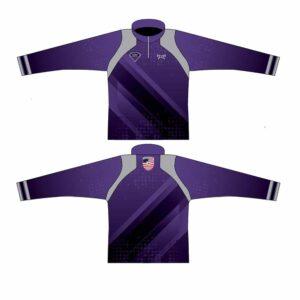 Elite Athletic Club Custom Purple Quarter Zip