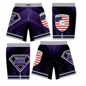 Elite Athletic Club Custom Purple Fight Shorts