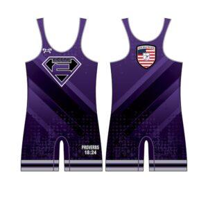 Elite Athletic Club Purple Custom Singlet